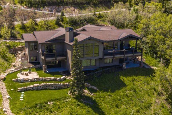A big home on a wide property